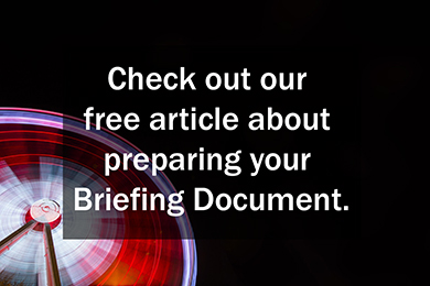 Read ECG's free article about preparing your briefing document.