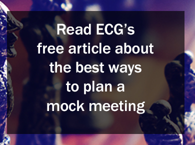 Read ECG's free article about the best ways to plan a mock meeting.